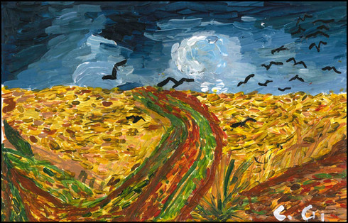 {NEW} Wheat Fields With Crows (After Van Gogh) 2019