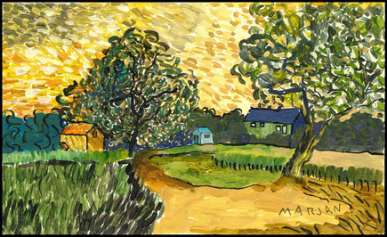 Chateau at Auvers at Sunset (after Van Gogh)