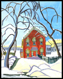 Red House (after Lawren Harris)