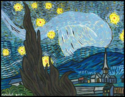 Starry Night (after Vincent van Gogh)