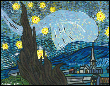 Starry Night (after Vincent van Gogh)