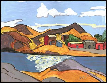 Village on the Lake (after Lawren Harris)