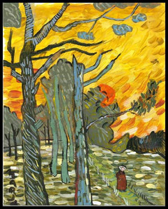 Red Sky (after Van Gogh)