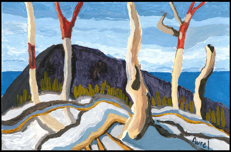 Above Lake Superior (after Lawren Harris)