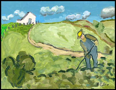 {NEW} Farmer (After Van Gogh) 2019