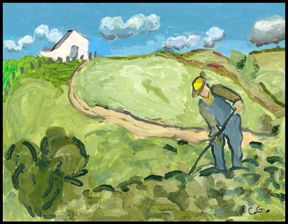{NEW} Farmer (After Van Gogh) 2019
