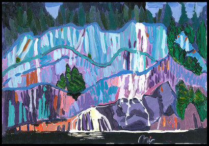 Waterfall (after Lawren Harris)