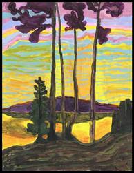 Sunset (after Lawren Harris)