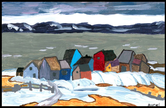 St. Lawrence in Winter (after A.Y. Jackson)