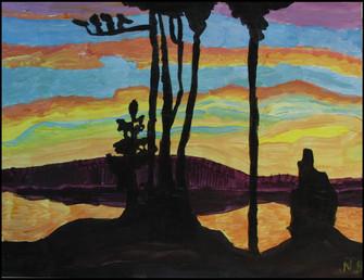 Sunset, Kempenfelt Bay (after Lawren Harris)