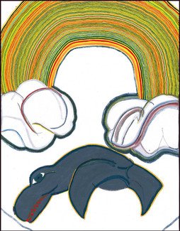 Native Whale and Rainbow