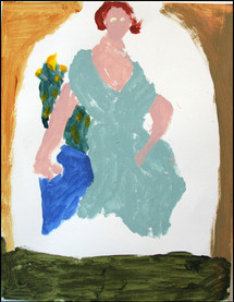 Woman in the Green Dress