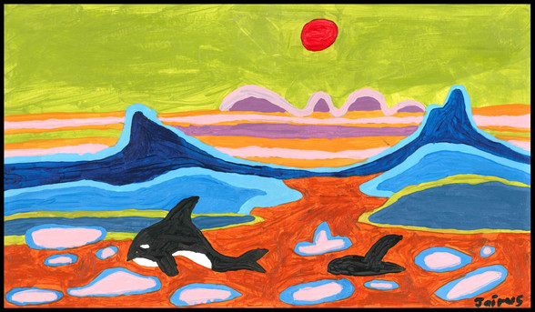 Killer Whale II (after Ted Harrison)