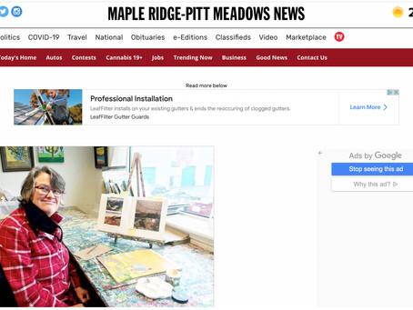 Vicuña's Virtual Art Show was featured on Maple Ridge – Pitt Meadows News