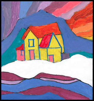 Dawson City (after Ted Harrison)