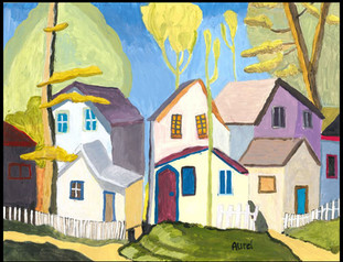 Summer Houses (after Lawren Harris)
