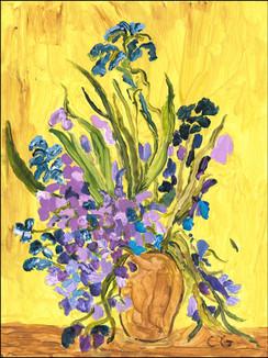 Violets (after Van Gogh)