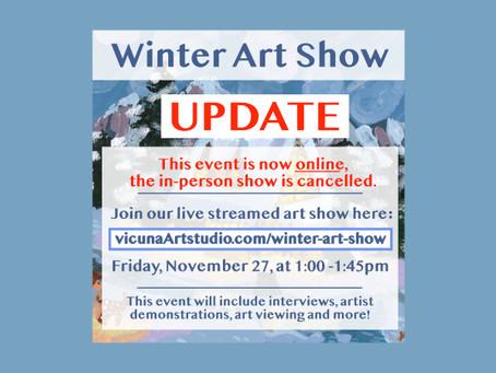 UPDATED - Vicuña Art Studio's Annual Winter Art Show 2020