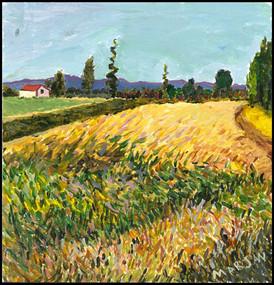 Wheat Field (after Van Gogh 2018)