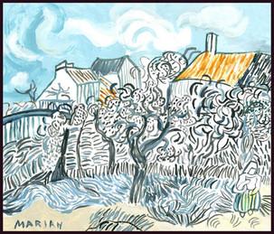 Old Vineyard with Peasant Woman (after Van Gogh) 2019