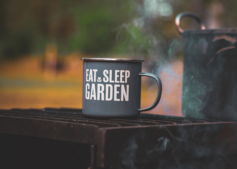 Tasse 'Eat, Sleep, Garden'