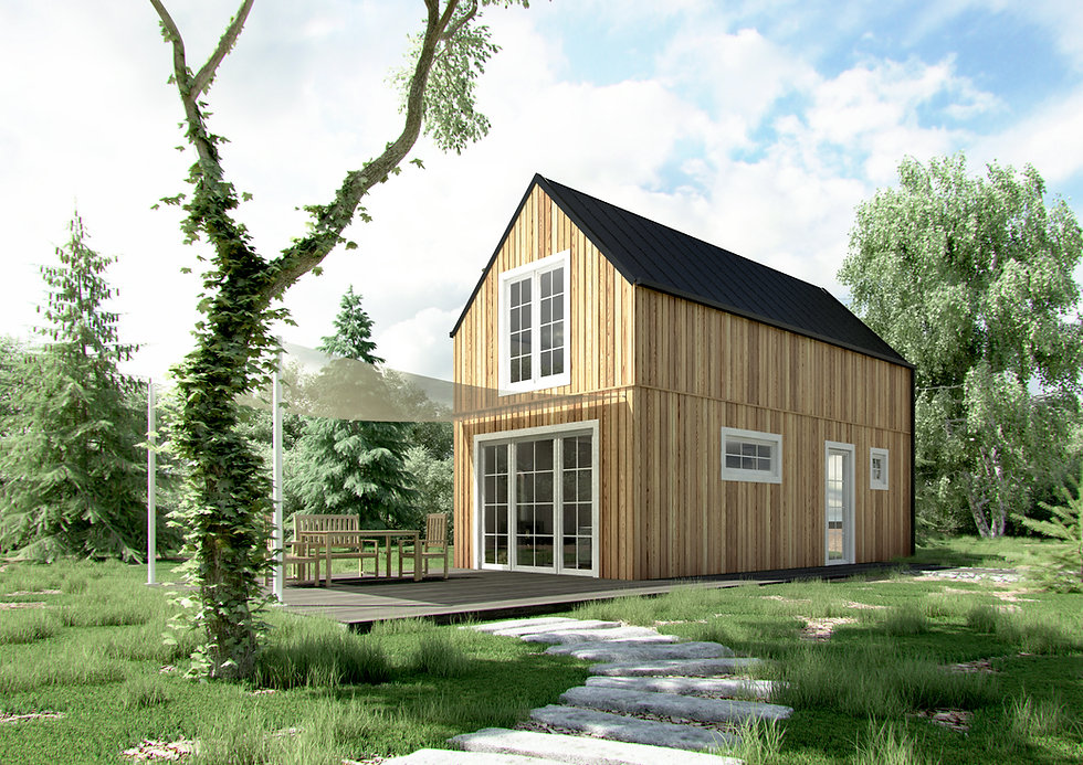 Woodenfactory Eco-lodge Model Family