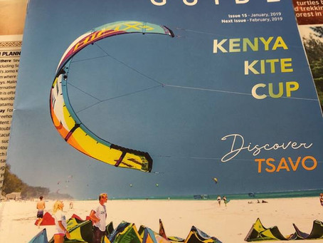 Kenya Kite instructors weron the cover of the most popular magazine in Diani Beach.