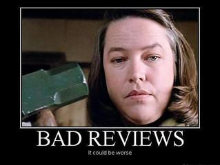 Why a Bad Review Makes Me Feel Like I'm PMSing or Bi-polar (Same Thing)