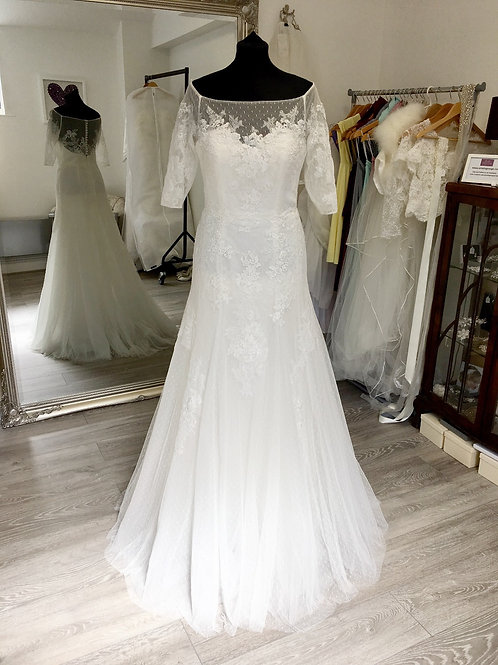 White One by Pronovias - Dalma Front View