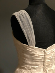 Adding simple tulle straps to a strapless dress