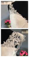 Adding delicate tulle cap sleeves to soften a simple strap