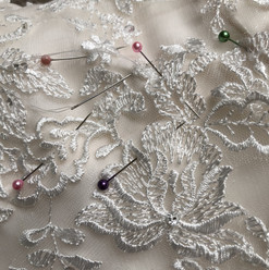 Hand stitching lace