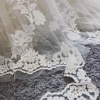 Shortening a lace hem