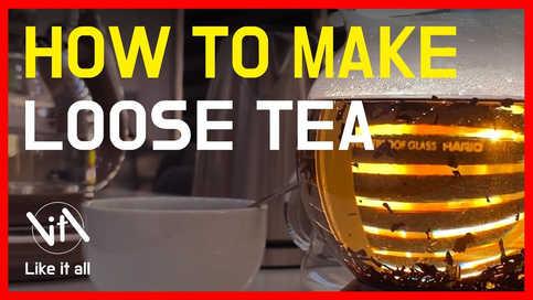 Loose tea 추출하는 방법