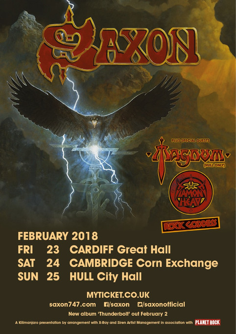 Diamond Head on tour with Saxon