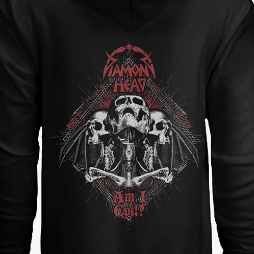 DH Skulls logo Hoodie Black/Red