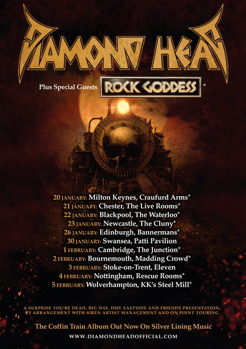 DIAMOND HEAD RESCHEDULE UK TOUR TO 2022