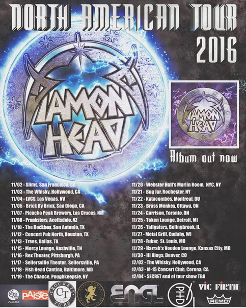 Diamond Head North American Tour at 100mph!