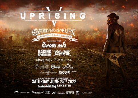 Uprising festival postponed to June 25th 2022