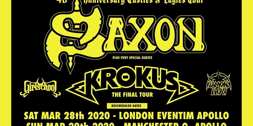 London Hammersmith Apollo on Saxon's 40th Anniversary tour