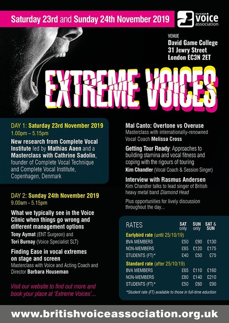 Extreme Voices with The British Voice Association