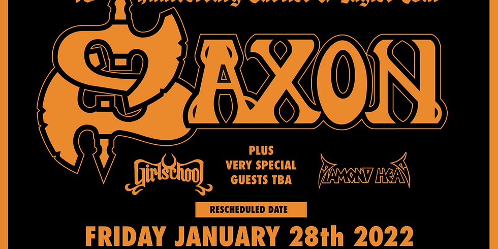Diamond Head as special guest at the Manchester Apollo with Saxon