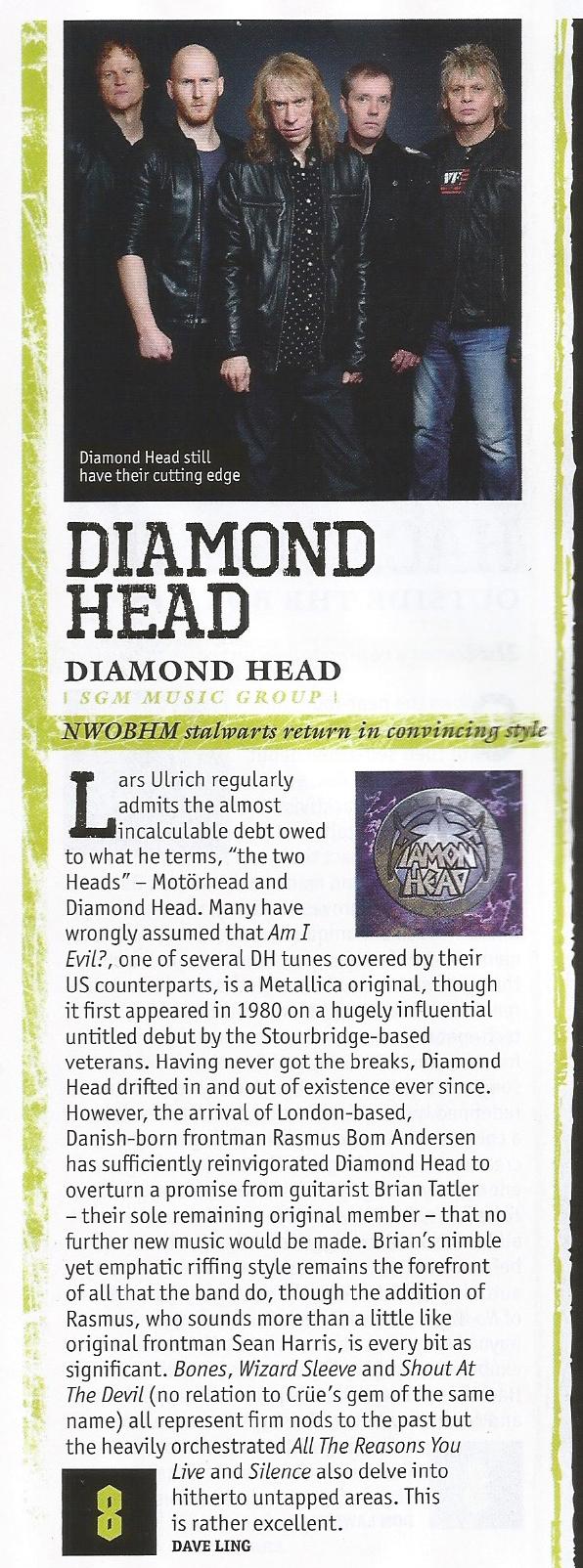 Metal Hammer - Diamond Head 2016 Review