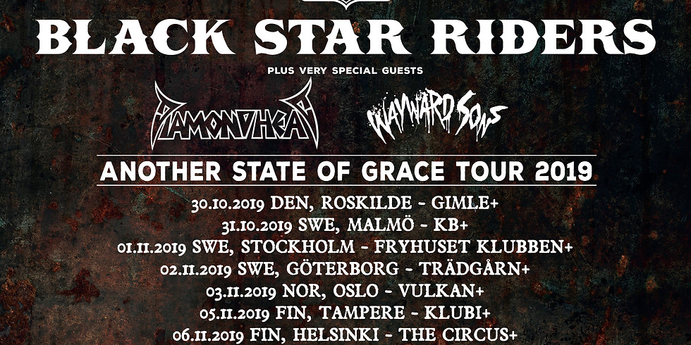 Diamond Head on tour with Black Star Riders