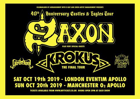 Saxon 40th anniversary dates announced