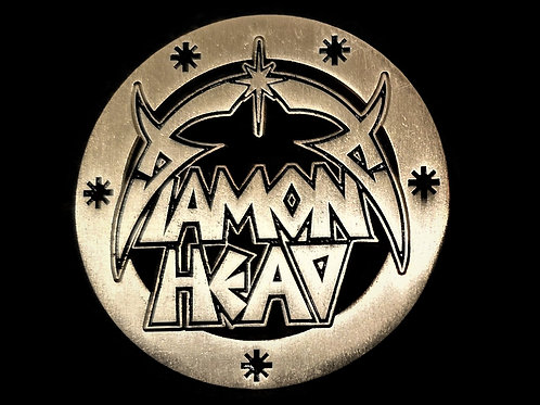 Diamond Head Silver Metal badge