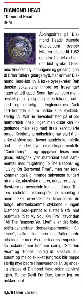 Norway Rock 82 - Diamond Head 2016 Review