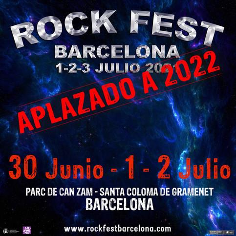 Rock Fest Barcelona Postponed to 2022