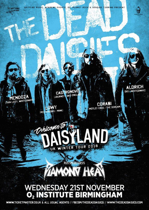 Supporting Dead Daisies and Updated Tour Schedule