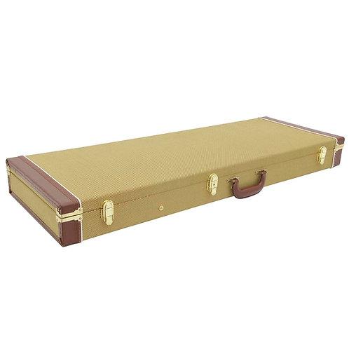GHS Guitar hard wooden case for E-Guitars, tweed